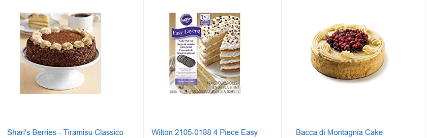 Example of an online cake shop