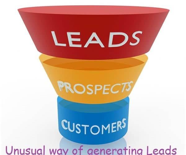 Unusual way of generating Leads