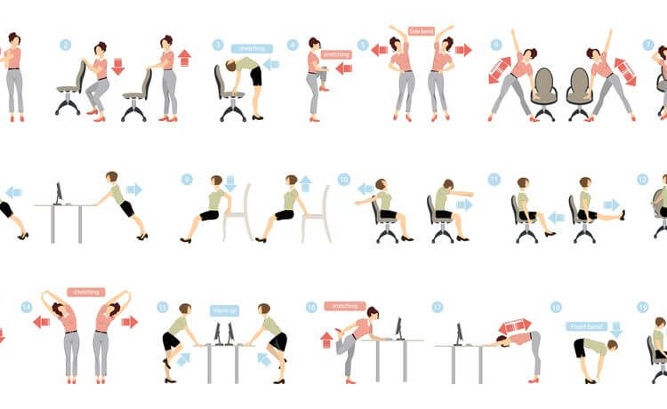 Exercices for Yoga at work