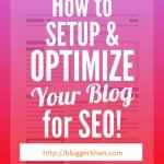 SEO Tips for blogs