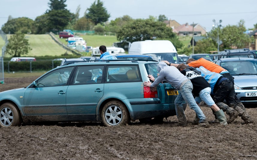Life's teaching moments - stuck in the mud.
